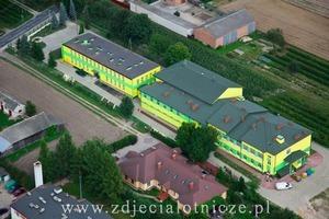 Budowa budynku Gimnazjum w miejscowości Borzechów Kolonia - etap robót wykończeniowych i wyposażenia