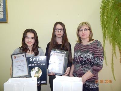 Konkurs o tematyce ekologicznej - osiągnięcia uczniów Gimnazjum Publicznego w Jabłonnie