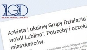Ankieta Lokalnej Grupy Działania na temat: potrzeb i oczekiwań mieszkańców