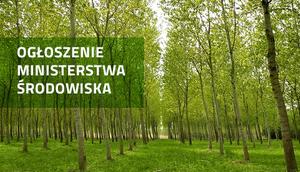 Ogłoszenie Ministerstwa Środowiska