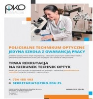 Policealnym Technikum Optycznym w Tarnogórze- ZAPRASZA