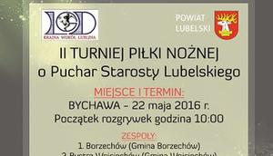 TURNIEJ PIŁKI NOŻNEJ o Puchar Starosty Lubelskiego 2016