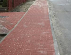Budowa odcinka chodnika w ul. Partyzantów w Dęblinie