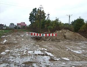 Budowa sieci wodociągowej i kanalizacyjnej w ul. bocznej Słowackiego w Dęblinie