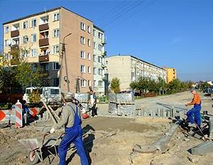 Budowa ulicy w os. Wiślana (wzdłuż bloków 31-27)