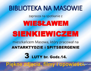BIBLIOTEKA NA MASOWIE ZAPRASZA NA SPOTKANIE Z WIESŁAWEM SIENKIEWICZEM