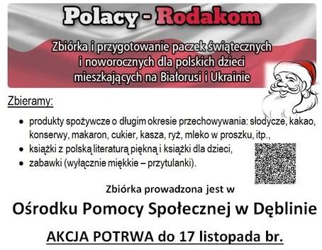 """Włącz się do akcji """"Polacy – Rodakom"""""""
