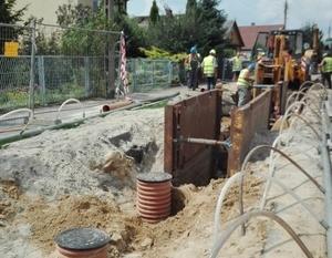 Budowa sieci kanalizacji sanitarnej w osiedlu Rycice
