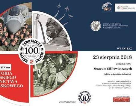 Zaproszenie na wernisaż: Historia Polskiego Lotnictwa Wojskowego