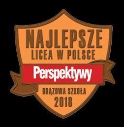 """Liceum Ogólnokształcące im. 15. Pułku Piechoty """"Wilków"""" - BRĄZOWĄ SZKOŁĄ według rankingu """"Perspektyw"""""""