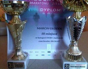"""2 lutego 2019 - tradycyjnie późnym wieczorem wystartował bieg uliczny """"Trzecia Dycha do Maratonu"""" w Lublinie."""