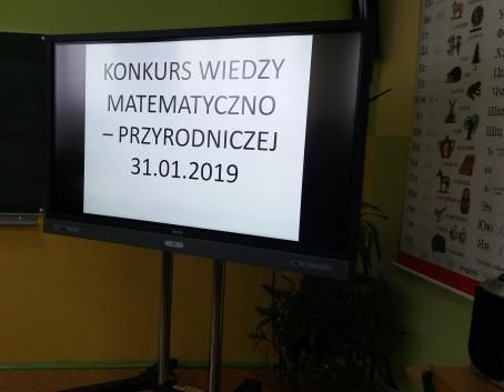 Konkurs wiedzy matematyczno-przyrodniczej w SOSW w Dęblinie.