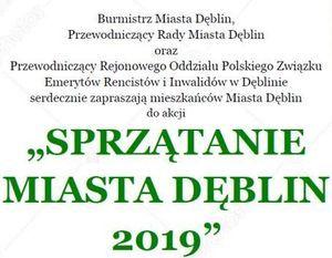 Sprzątanie Miasta Dęblin 2019