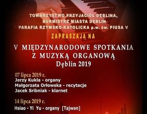 V Międzynarodowe spotkania z muzyką organową Dęblin 2019