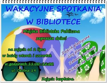 WAKACYJNE SPOTKANIA W BIBLIOTECE