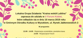 V Forum Kobiet - zapraszamy do udziału!