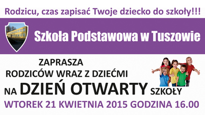 Dzień Otwarty Szkoły Podstawowej w Tuszowie
