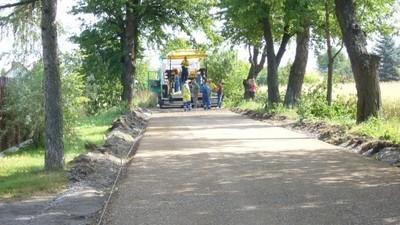 Budowa drogi tzw. Sklepowej w Jabłonnie Drugiej