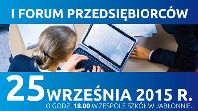 I Forum Przedsiębiorców