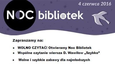 Zapraszamy na NOC bibliotek