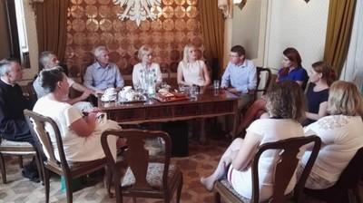 Wizyta przedstawicieli Teteriwskiej gromady w Jabłonnie