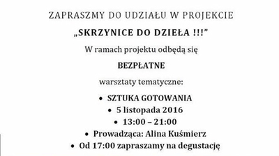 Zapraszamy do udziału w projekcie SKRZYNICE DO DZIEŁA!!!