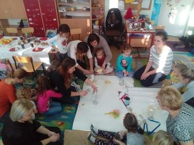 Zajęcia otwarte w przedszkolu w Skrzynicach