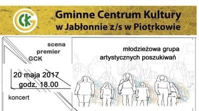 Spektakl i koncert 20 maja 2017 r. godz. 18.00