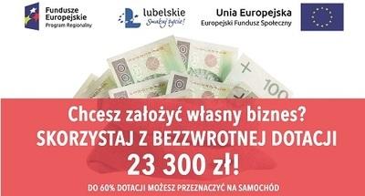 Skorzystaj z bezzwrotnej dotacji 23 000 zł na założenie własnej firmy!