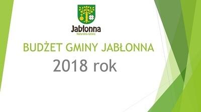Budżet Gminy Jabłonna na 2018 rok