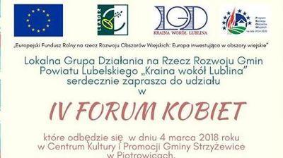 Zapraszamy na  IV Forum Kobiet