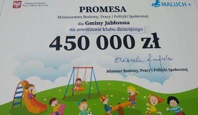 Dotacje na Klub Dziecięcy w gminie Jabłonna