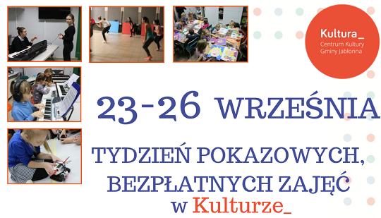 Tydzień pokazowych zajęć w Centrum Kultury Gminy Jabłonna