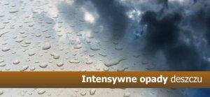 OSTRZEŻENIE  INTENSYWNE OPADY DESZCZU 03.06.2013