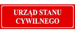 Ogłoszenie Urzędu Stanu Cywilnego w Kamionce