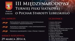 III Międzynarodowy turniej piłki siatkowej o puchar Starosty...