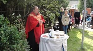 Uroczystość poświęcenia nowego Krzyża w Boduszynie