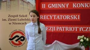II Gminny Konkurs Recytatorski Poezji Patriotycznej w Niemcach