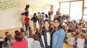 Wolontariuszki z Kanady i Chin w Przedszkolu Publicznym w Niemcach