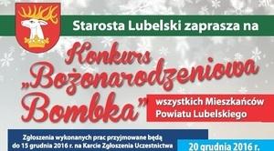 """Zapraszamy na konkurs """"Bombka Bożonarodzeniowa"""""""