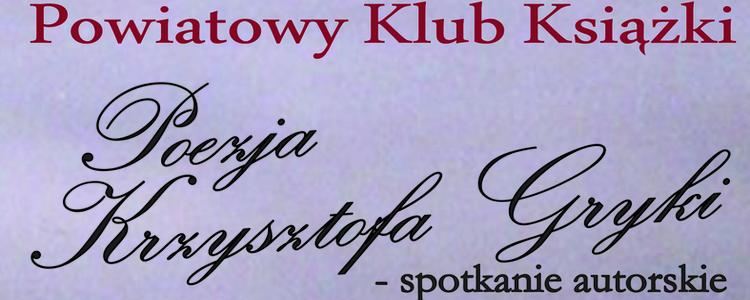 Spotkanie autorskie z Krzysztofem Gryko