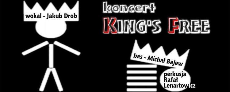 KING'S FREE  Mikołaj Bajew (bas) Rafał Lenartowicz (perkusja) Jakub Drob (wokal)
