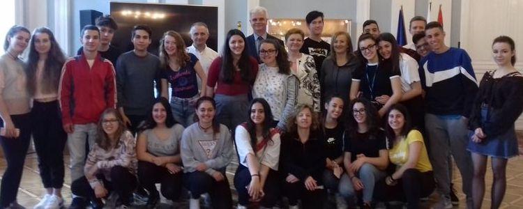 Młodzież z Włoch z wizytą w Powiecie Puławskim
