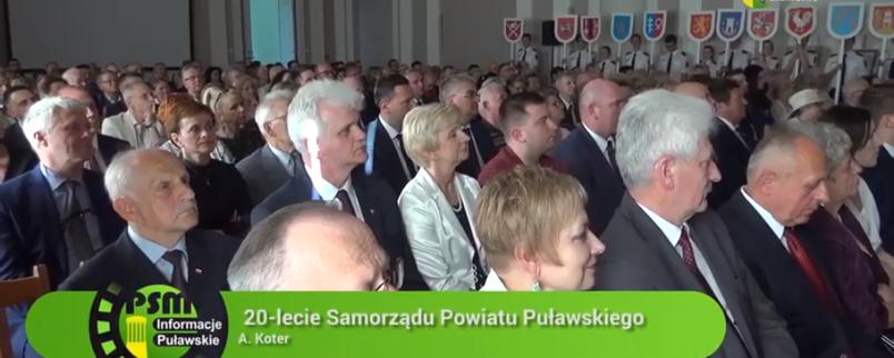 Filmowe wspomnienie Jubileuszu 20-lecia Samorządu Powiatu Puławskiego