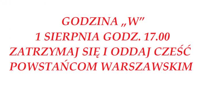 Uczcijmy razem rocznicę wybuchu Powstania Warszawskiego