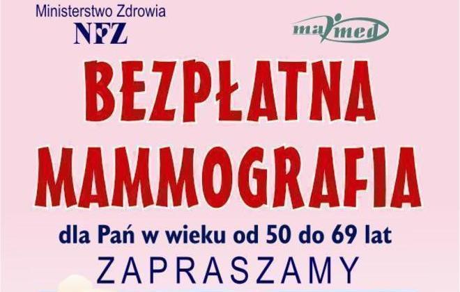 Przyjdź na bezpłatną mammografię!