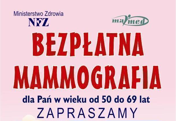 Bezpłatna Mammografia dla Pań w wieku od 50-69 lat