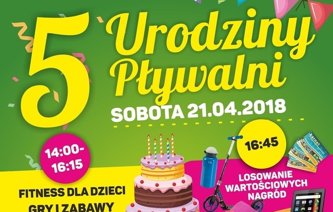 Świętuj z nami V urodziny Pływalni Powiatowej w Rykach.