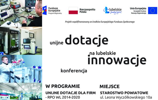Unijne dotacje na lubelskie innowacje – konferencja dla przedsiębiorców