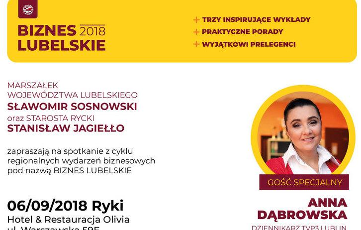 """Rusza drugi cykl spotkań """"Biznes Lubelskie 2018"""": sztuka prezentacji receptą na sukces"""